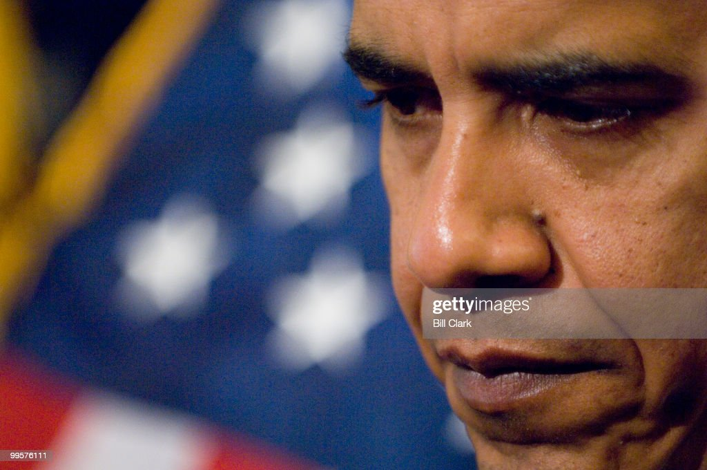 At the conclusion of a news conference to introduce legislation on immigration fees on Wednesday, March 7, 2007, Sen. Barack Obama, D-Ill., defends investments he made in AVI Biopharma and Skyterra Communications right after his election to the Senate.