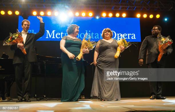 At the conclusion of the sixth annual seasonopening concert in the Metropolitan Opera Summer Recital Series at Central Park SummerStage from left...