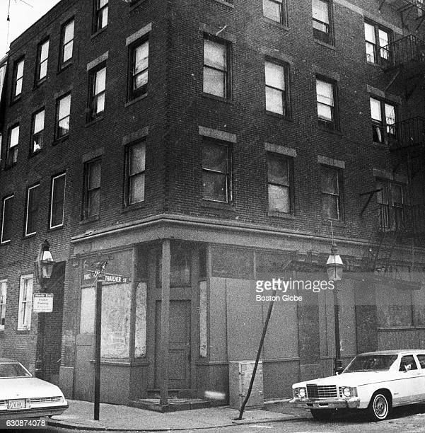 At the corner of Thatcher Street and Prince Street stands the tenement building at 98 Prince Street in Boston's North End on Sept 7 in which reputed...