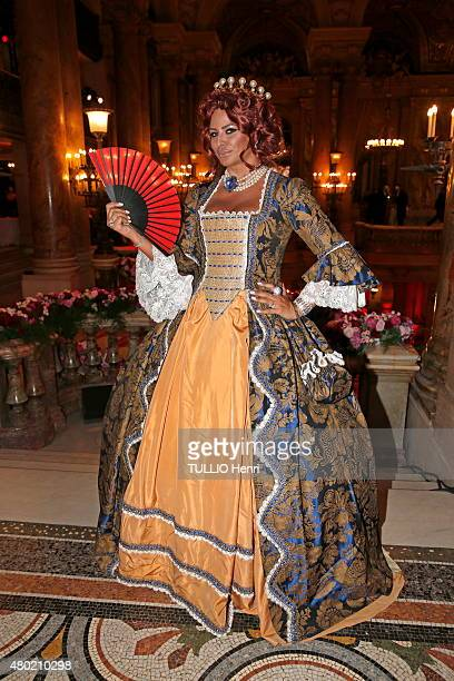 at the costumed evening at the Opera Garnier Kasia AlThani is photographed for Paris Match on june 13 2015 in Paris France