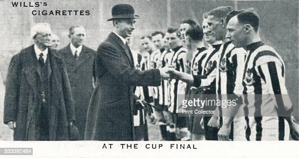 At the Cup Final' number 17 of 50 from the 'Our King And Queen' cigarette cards produced for WD HO Wills The Imperial Tobacco Company 1937 The Duke...