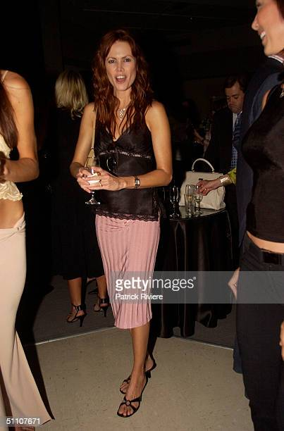 FISHER at the David Jones Winter fashion 2003 launch in their Sydney store on the 19 February 2003