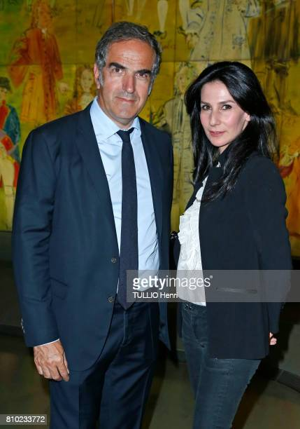 at the dinner of the Maurice Amon Foundation at the Museum of Modern Art of the City of Paris Christopher Baldelli and Marie Drucker on june 7 2017...
