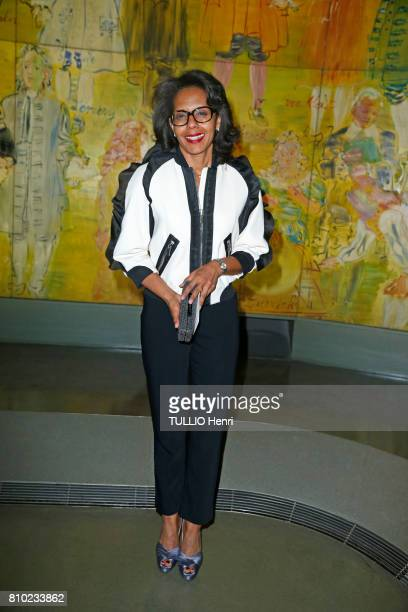 at the dinner of the Maurice Amon Foundation at the Museum of Modern Art of the City of Paris Audrey Pulvar on june 7 2017 in Paris France Audrey...