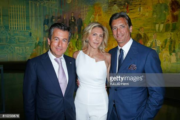 at the dinner of the Maurice Amon Foundation at the Museum of Modern Art of the City of Paris Cyril Karaoglan and Lisa with her husband Germano...