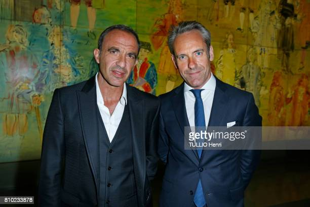 at the dinner of the Maurice Amon Foundation at the Museum of Modern Art of the City of Paris Nikos Aliagas and Damien Viel on june 7 2017 in Paris...