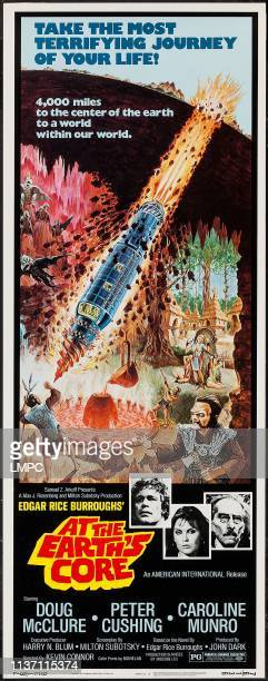 At The Earth's Core poster lr Doug McClure Caroline Munro Peter Cushing on insert poster 1976
