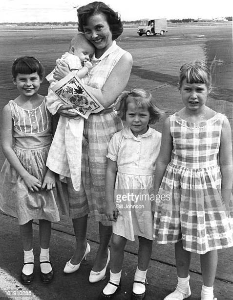 JUL 21 1960 JUL 22 1960 At the end of a long evacuation trip from the Congo Mrs Johan Campbell and her four daughters Carla Jean Beverly 4 months...