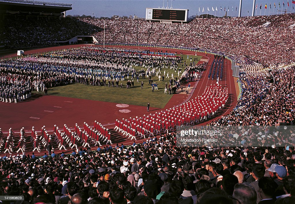 The Japanese Delegation Is Marching In The Last Position During The Opening Ceremony Of Tokyo Olympic Games : ニュース写真