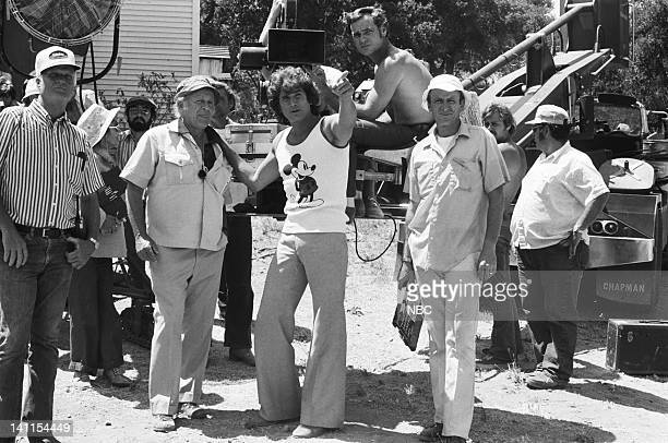 PRAIRIE 'At the End of the Rainbow' Episode 10 Aired Pictured Director Michael Landon with crew on set Photo by NBCU Photo Bank