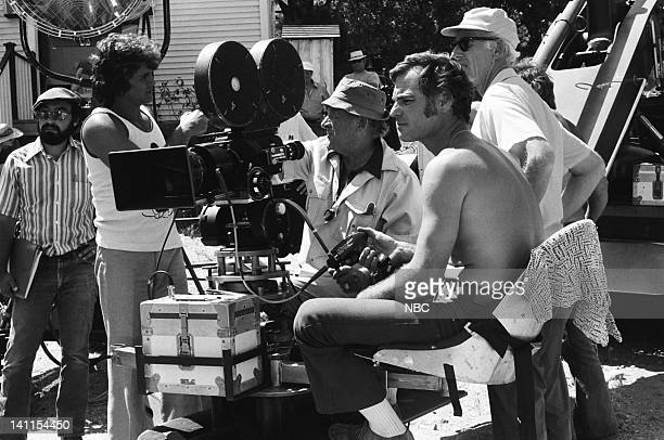 PRAIRIE At the End of the Rainbow Episode 10 Aired Pictured Director Michael Landon with crew on set Photo by NBCU Photo Bank