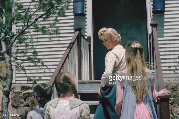PRAIRIE At the End of the Rainbow Episode 10 Aired Pictured Melissa Gilbert as Laura Ingalls Wilder Charlotte Stewart as Eva Beadle Melissa Sue...