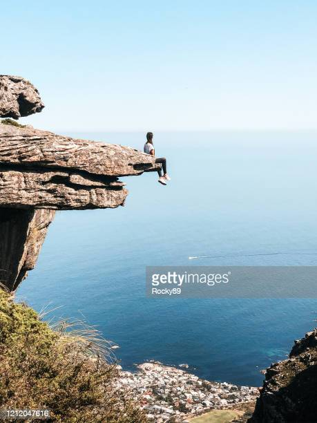 at the end of the world in cape town, south africa - table mountain stock pictures, royalty-free photos & images