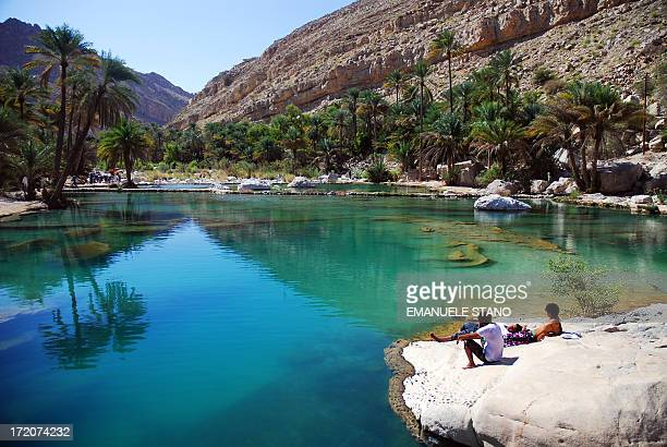 At the end of Wadi Bani Khalid, this peaceful place welcomes locals and few tourist in a gorgeous water pools scenario