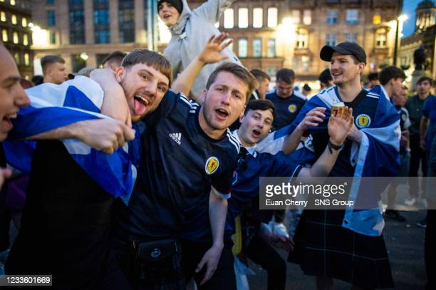 At the Euro Fan Zone during Scotland's Euro 2020 campaign, at Glasgow Green, on June 22 in Glasgow, Scotland.