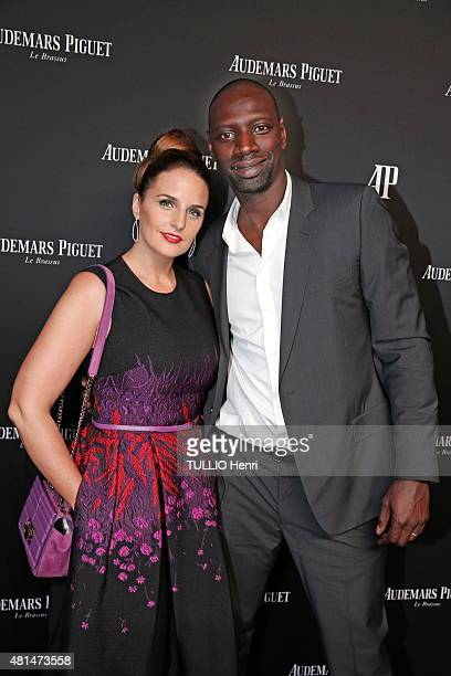At the evening Audemars Piguet Millenary to celebrate the new collection of the prestigious Swiss brand, Omar Sy and his wife Helene are photographed...
