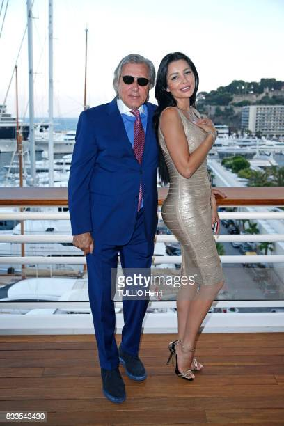 at the evening for Ira Furstenbergh designer jewelry exhibition at the YachtClub Ilie Nastase and his wife Brigitte on july 24 2017 in Monaco
