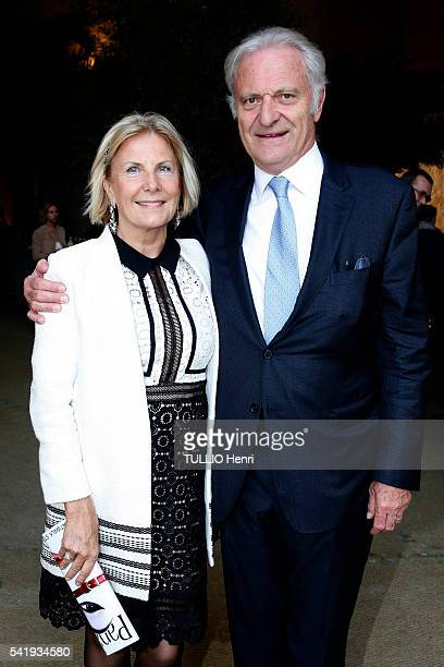 at the evening gala at the Chateau de Versailles for the opening of the exhibition Olafur Eliassion Suzanne de BokayFlammarion with her husband Alain...