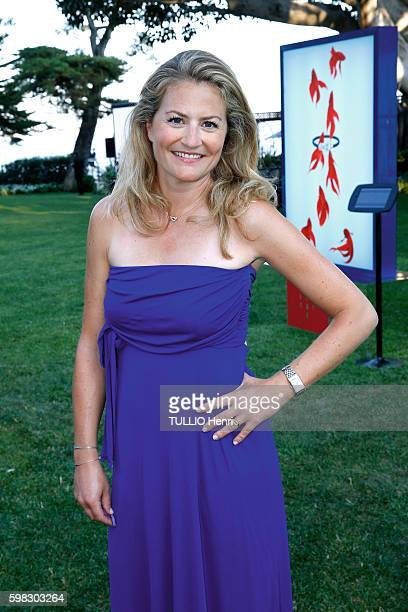 at the evening gala for 80 years of jewelry Fred the journalist Astrid Bard poses for Paris Match at the Hotel CapEstel on june 23 2016 in Eze France