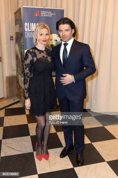 at the evening gala for the 10th anniversary of the Prince Albert II de Monaco Foundation Delphine and Gautier Capucon pose for Paris Match on...