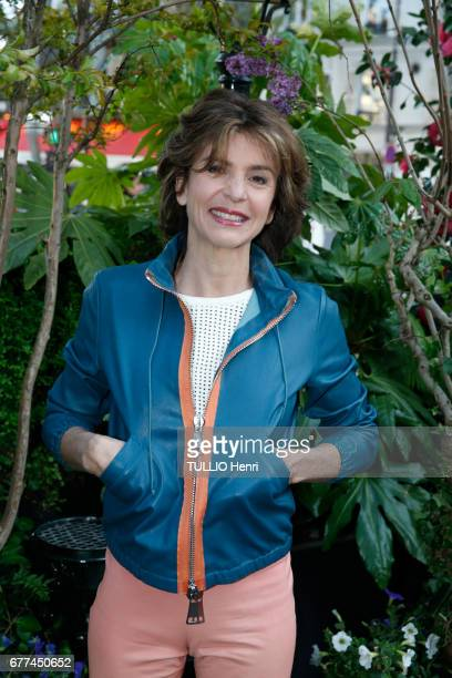at the evening gala for the 10th price of La Closerie des Lilas 2017 Anne Nivat poses for Paris Match on april 19 2017 in Paris France