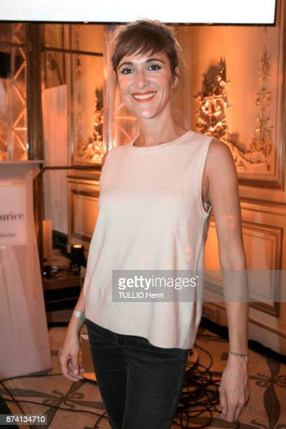 at the evening gala for the 10th Prix Meurice for Contemporary Art Victoria Bedos is photographed for Paris Match on october 09 2017 in Paris France