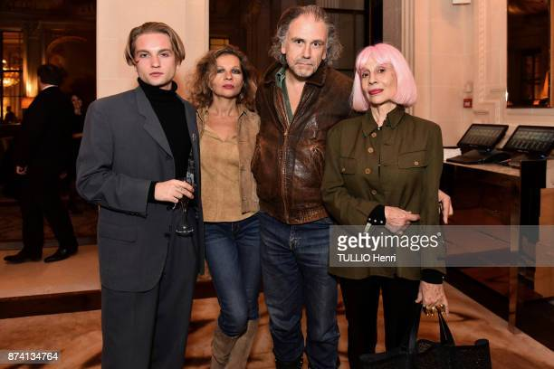 at the evening gala for the 10th Prix Meurice for Contemporary Art Lukas Ionesco with his mother Eva Simon Liberati and Marie Beltrami are...