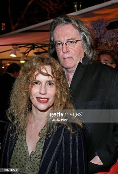 at the evening gala for the 11th price of La Closerie des Lilas 2018 Florence Darel and his husband pascal Dusapin are photographed for Paris Match...