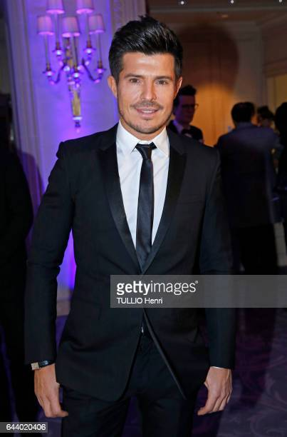 at the evening gala for the 40th edition of The Best Vincent Niclo poses for Paris Match on january 2017 in Paris France