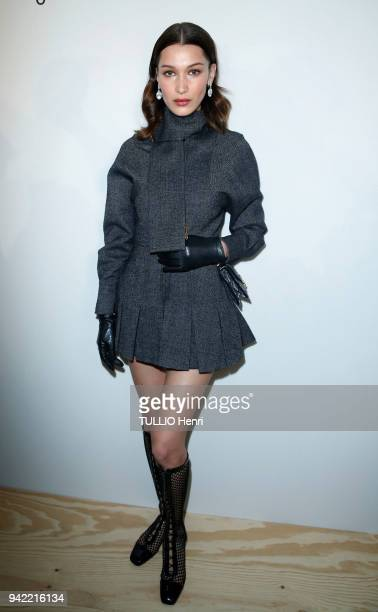 at the evening gala for the 5th edition of the LVMH Prize 2018 at the head office 22 avenue Montaigne Bella Hadid is photographed for Paris Match on...