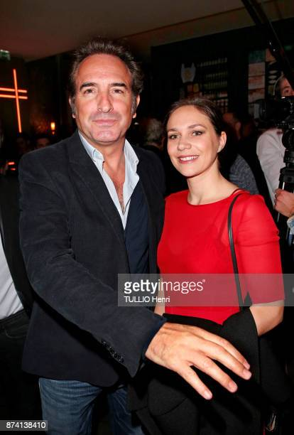 at the evening gala for the 80th birthday of Claude Lelouch Jean Dujardin and Nathalie Pechalat are photographed for Paris Match on october 30 2017...