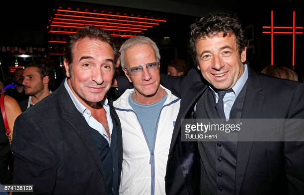 at the evening gala for the 80th birthday of Claude Lelouch Jean Dujardin Christophe Lambert and Patrick Bruel are photographed for Paris Match on...