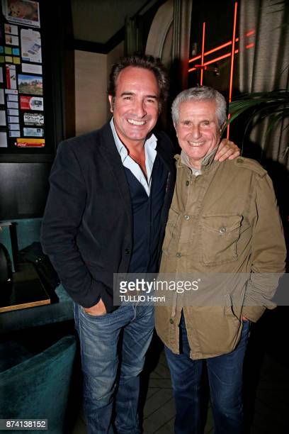 at the evening gala for the 80th birthday of Claude Lelouch Jean Dujardin Jean Dujardin and Claude lelouch are photographed for Paris Match on...