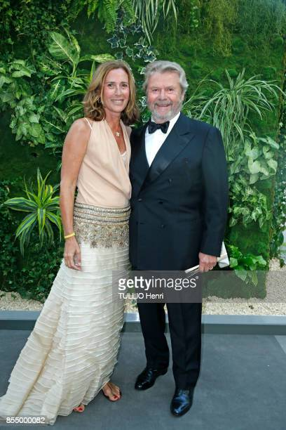 at the evening gala for the Bienniale Antiques 2017 at the Grand Palais Florence and AlainDominique Perrin are photographed by Paris Match on...