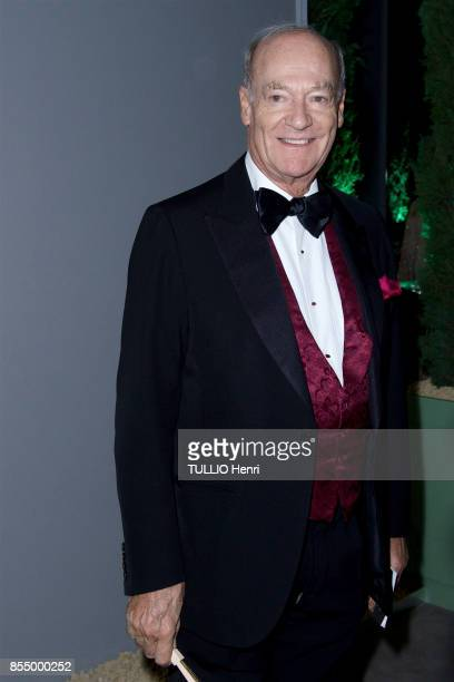 at the evening gala for the Bienniale Antiques 2017 at the Grand Palais Prince Amyn Aga Khan is photographed by Paris Match on september 09 2017 in...