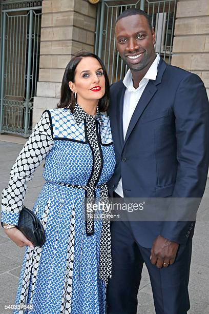 at the evening gala for the brand Audemars Piguet Omar Sy with his wife Helene are photographed for Paris Match on may 26 2016 in Paris France