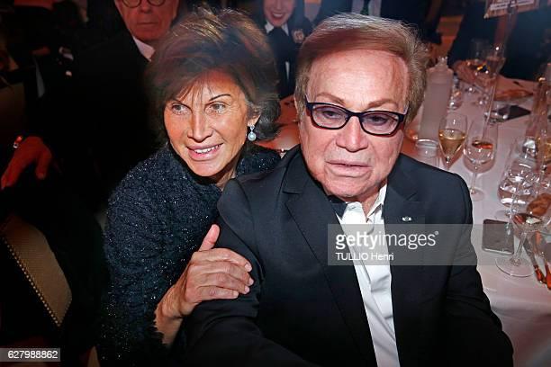 at the evening gala for the charity diner of Zazakely Sambata Association at Papilon Ledoyen Sylvie Rousseau and Orlando pose for Paris Match on...