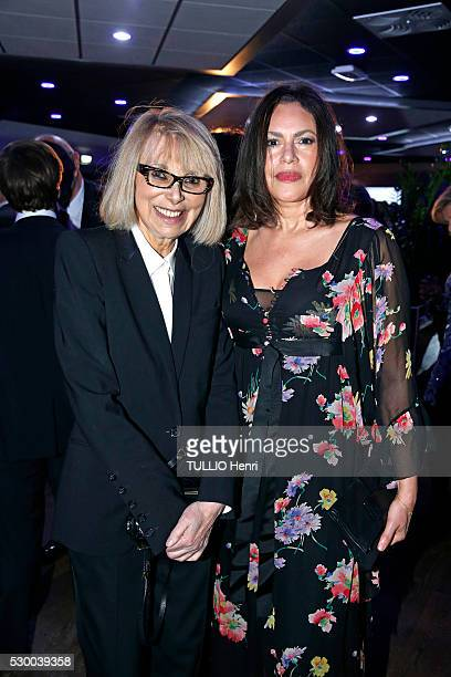 at the evening gala for the Fondation for Children organized by Regine Sixt Mireille Darc and Victor Lazlo are photographed for Paris Match on march...