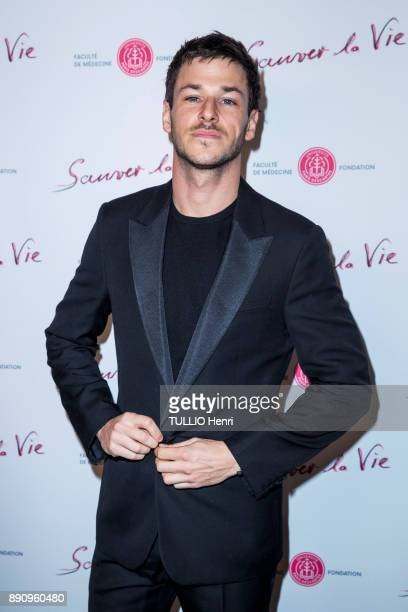 at the evening gala for the Foundation Paris Sauver la vie at the Pavillon Champs Elysees Gaspard Ulliel is photographed for Paris Match on november...