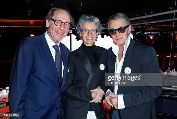 at the evening gala for the Foundation Paris Sauver la vie at the Pavillon Champs Elysees Gerard Friedlander Caroline Lebar and Eric Pfrunder are...