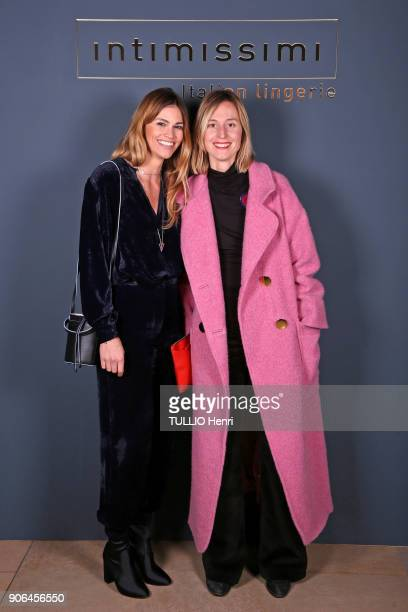 at the evening gala for the Italian lingerie brand Intimissimi to present its new French ambassador the star dancer MarieAgnès Gillot Lorena Vergani...