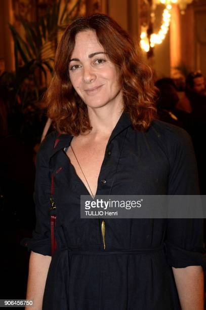 at the evening gala for the Italian lingerie brand Intimissimi to present its new French ambassador the star dancer MarieAgnès Gillot Emilie Freche...