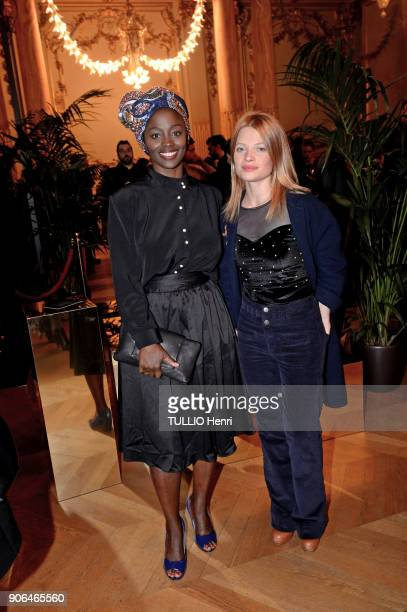 at the evening gala for the Italian lingerie brand Intimissimi to present its new French ambassador the star dancer MarieAgn®s Gillot AØssa MaØga and...