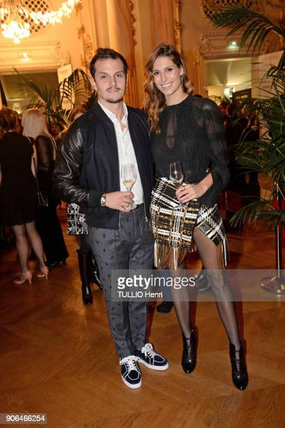 at the evening gala for the Italian lingerie brand Intimissimi to present its new French ambassador the star dancer MarieAgnès Gillot Juan Arbelaez...