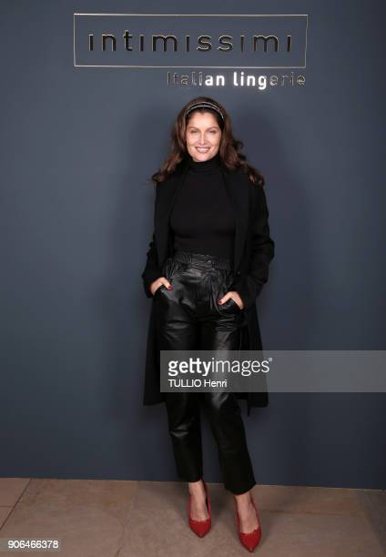 at the evening gala for the Italian lingerie brand Intimissimi to present its new French ambassador the star dancer MarieAgnès Gillot Laetitia Casta...