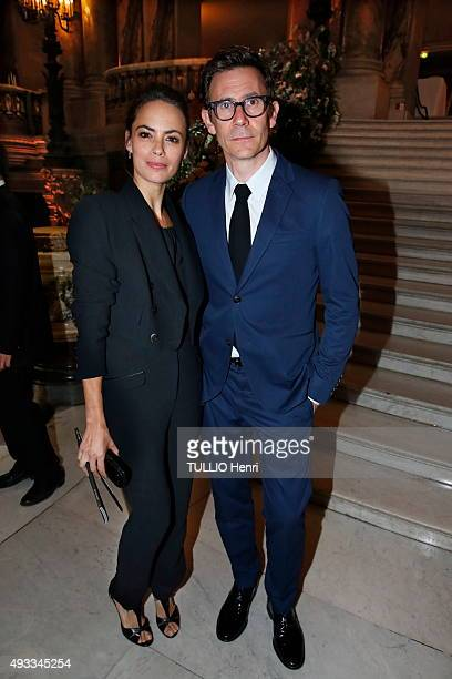 at the evening gala for the opening of the new season 20152016 at the Opera of Paris Michel Hazanavicius with his wife Bereinice Bejo are...
