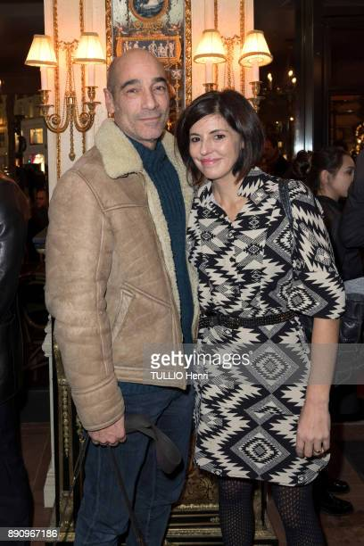 at the evening gala for the opening the Cafe Pouchkine JeanMarc Barr and Stella Di Tocco are photographed for Paris Match at place de la Madeleine on...