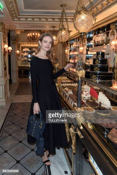 at the evening gala for the opening the Cafe Pouchkine Natalia Vodianova is photographed for Paris Match at place de la Madeleine on november 29 2017...