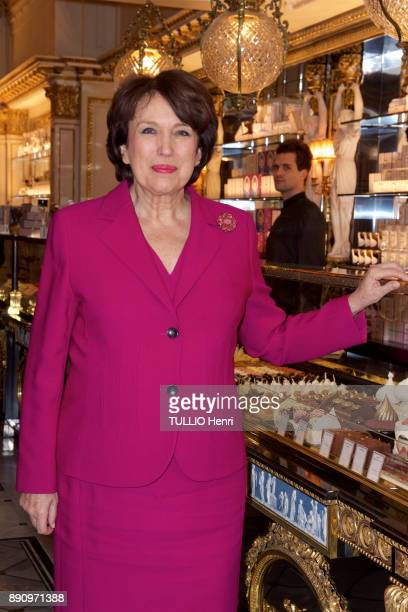 at the evening gala for the opening the Cafe Pouchkine Roselyne Bachelot is photographed for Paris Match at Place de la Madeleine on november 29 2017...