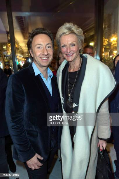 at the evening gala for the opening the Cafe Pouchkine Stephane Bern and Anne de BourbonSiciles are photographed for Paris Match at place de la...